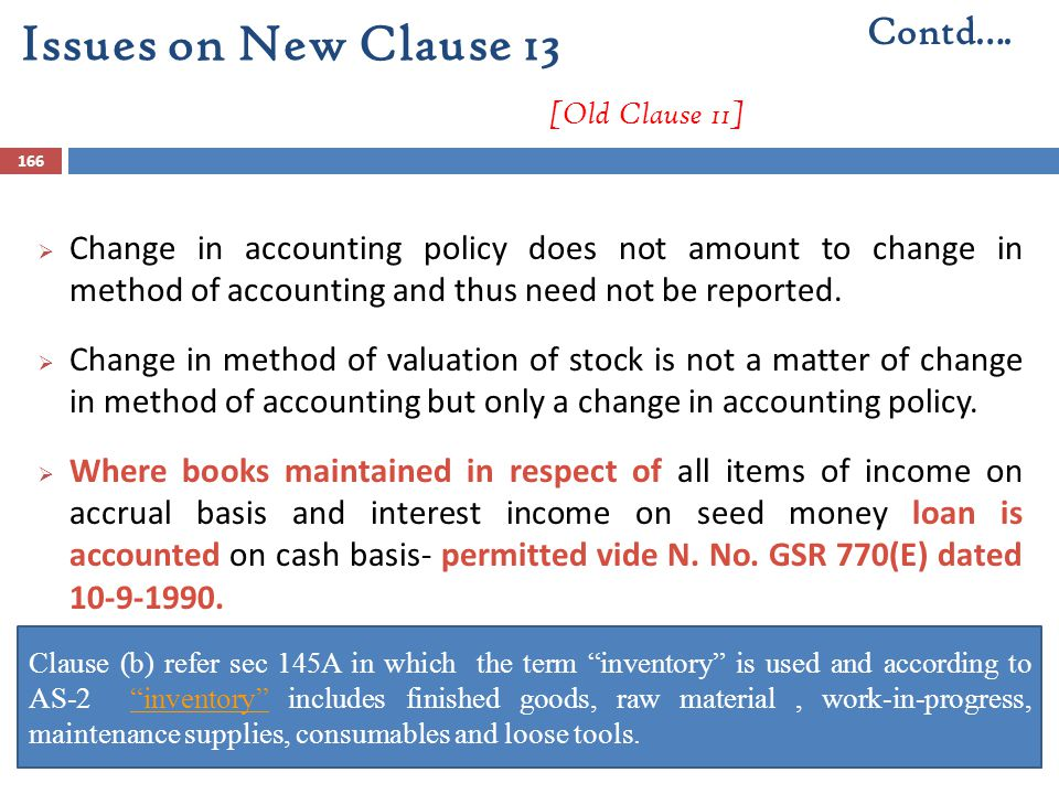 Issues on New Clause 13 [Old Clause 11]